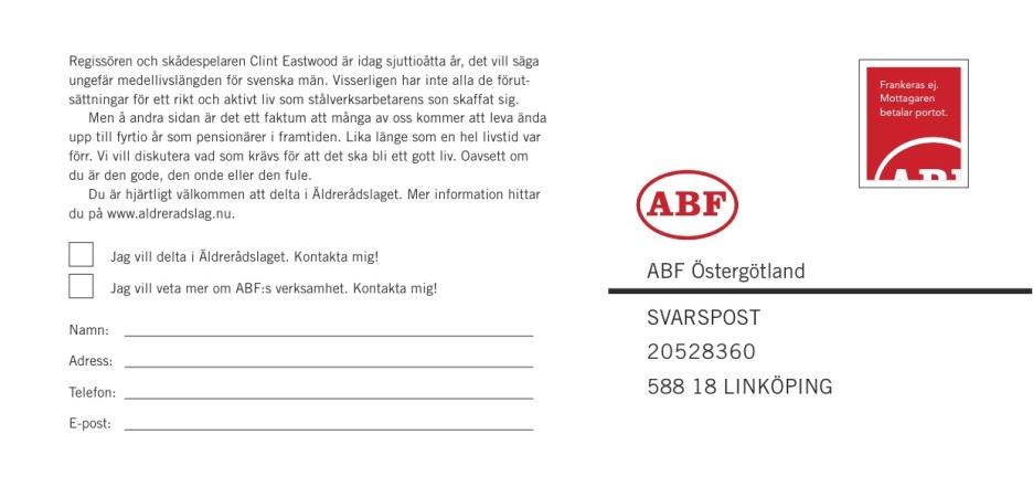 Byrå: Ubik! Copywriter och projektledare: Ulf Börgesson. Art Director: Ida Alfredsson.