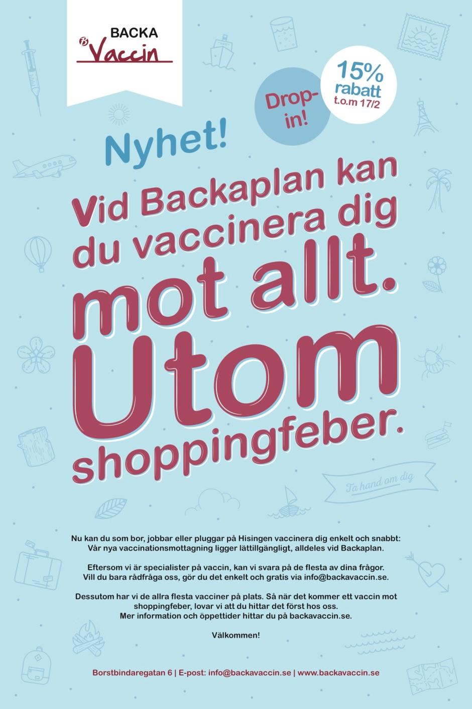 Annonsen går alltså i Tidningen Hisingen.
