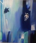 Space Floating, Åsa Chambert. Olja på duk/oil on canvas. 56 x 65 cm.