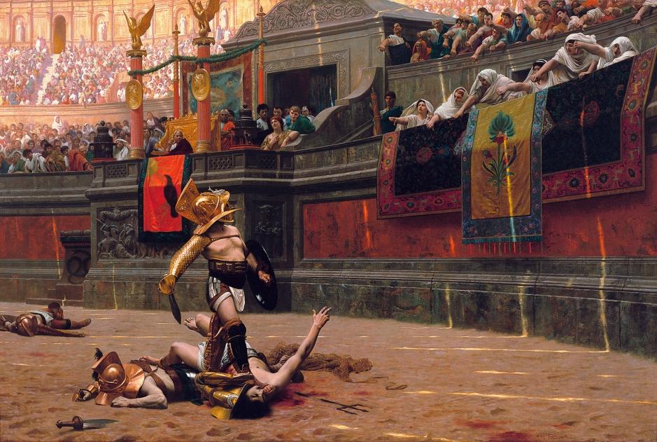 """""""Och nu ett meddelande från våra sponsorer: Maximus olivolja - smaken som segrar!"""""""