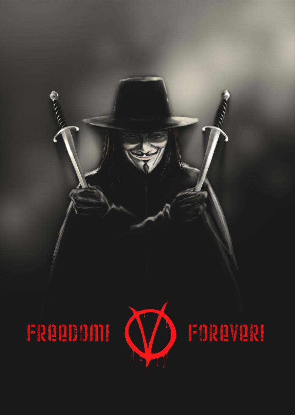 Ironin att webbanarkister valt Guy Fawkes-masken till symbol är närmast för bra: Guy Fawkes ville införa en katolsk gudsstat i England. Han hade mer gemensamt med ISIS eller al-Quaida än med Anonymous.